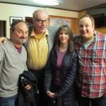 Backstage at Shakes The Clown Live Reading with Kevin Pollack, Rick Overton, Laraine Newman and Paco Romane.