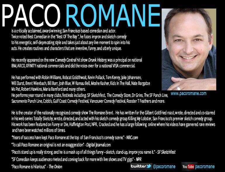Paco Romane Electronic Press Kit