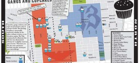 "Map of San Francisco's Mission District ""Gangs and Cupcakes"""