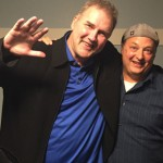 Norm MacDonald and Paco Romane backstage at Cobb's Comedy Club