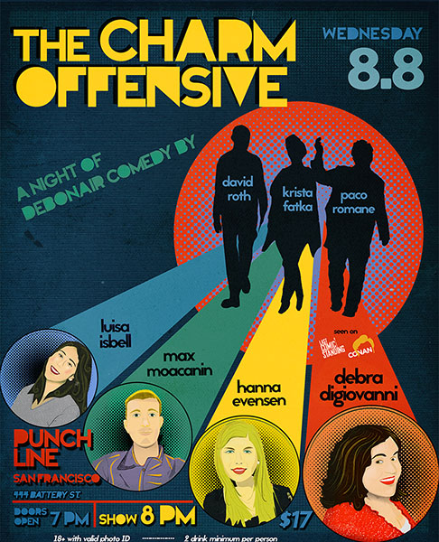 Charm Offensive at Punch Line Comedy Club!